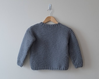Kid's casual sweater, handmade sweater, kids sweater,
