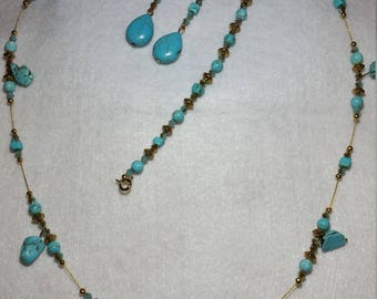 Chic Turquoise and Gold Set