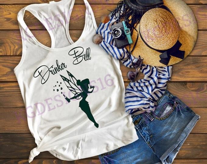 Drinkerbell Tank Top-Tinkerbell Tank Top-Vacation Shirt-Bella Canvas Flowy Tank Top-Loose Fit