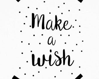 "Stickers poster ""Make a wish""."