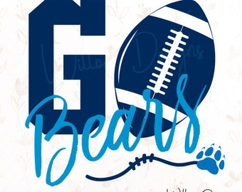 Go Bears! Football .SVG or .dxf File for Cricut, Silhouette Studio & more!