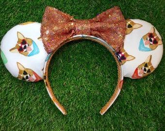 Cool Corgi Love Mouse Ears