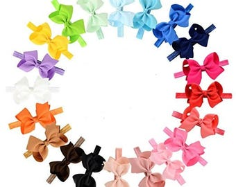 20 Pack of 4inch Bow Headbands