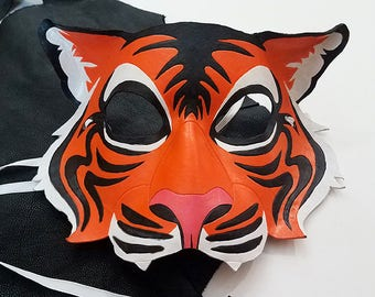 Leather Tiger Mask - Made to Order
