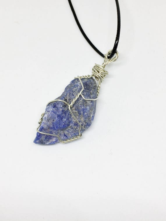 dp amazon necklace sodalite pendant gemstone crystal in lucky point com