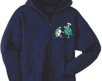 Jerry Garcia Moon embroidered 80/20 Cotton Poly heavyweight fleece Hoodie in Charcoal. UH7kB