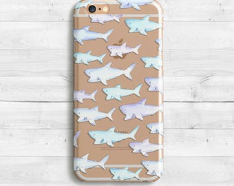 Blue Shark Case, iPhone SE, iPhone 6s, 6s plus iPhone 7 case, iPad Mini iPad Air Samaung Galaxy S6, S7 Shark Case Sea Case Ocean Fish Case