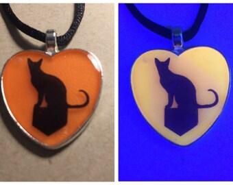"GLOWING Cat 1"" pendant necklace"