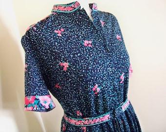 Vintage Original 1980s Dress Floral