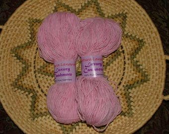 Filatura Lanarota Luxury Cashmere Yarn Color No 753L Lot No 753 Pink Made in Italy Crochet Knit