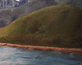 Alaska Mountains Acrylic Painting