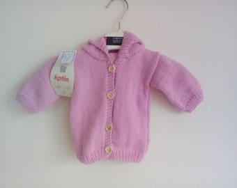 Long sleeves and hood pink birthstone