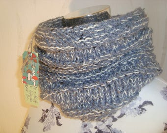 Scarf loop infinity scarf grey white mix