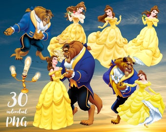 Beauty and The Beast Clipart  Disney Clipart Princess Clipart