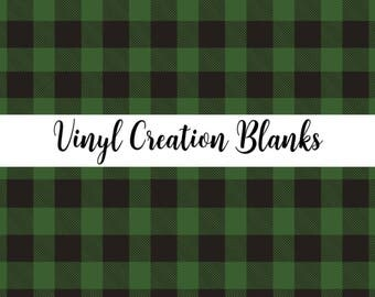 Buffalo Plaid Pattern Vinyl, HTV and Outdoor Vinyl, Plaid Vinyl, Green and Black Plaid, Green and Black Vinyl