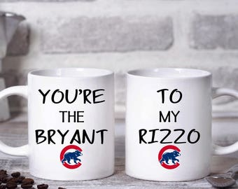 Chicago Cubs Coffee Mug, You're the Bryant To My Rizzo, Cubs Fan, Central Division Champions, GO CUBS GO Coffee Mug, Fly the W