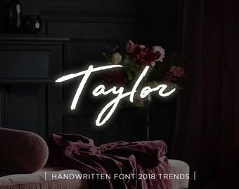 Taylor digital font download, Calligraphy font, Digital font, Wedding font, Handwritten font, Download digital font, Swirly font, Script