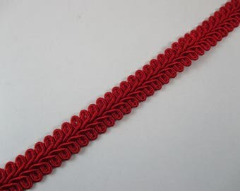 Chanelle stripe, red, Coupon 0.40 cm, width 12 mm.
