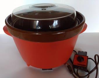 Vintage Rival Crock Pot, Model 3300-2, crock pot controller, crock pot lid, vintage slow cooker, shipping included, buy the set or pieces