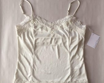 20% OFF SALE... porcelain white crop top | lace tank top | 90s strappy summer top