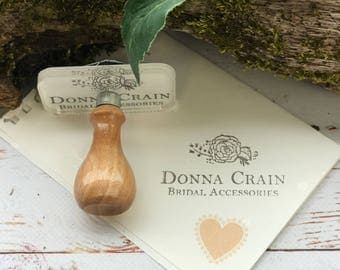 CUSTOM STAMP, custom rubber stamp, Hand Made with Vintage Style wooden Handle, custom made stamps, logo stamp
