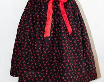 Cherry print vintage style skirt
