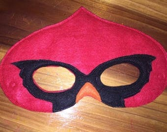 Red Cardinal Felt Mask