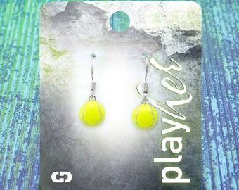 Enamel Tennis Dangle Earrings - Great Tennis Gift! Free Shipping!