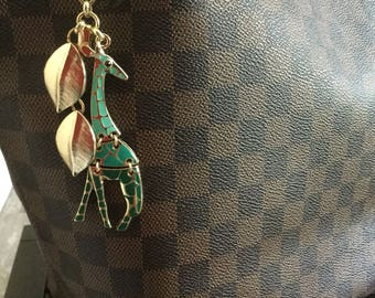 Purse charm -bag charm-giraffe charm