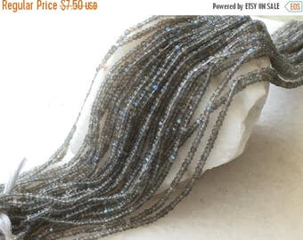 Exclusive Quality Labradorite Micro faceted Roundell 3 mm approx , 14 inch strand