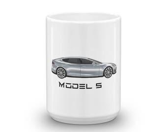 Tesla Model S Electric Car Elon Musk Coffee Mug 11 oz / 15 oz