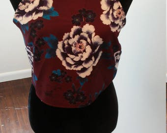 On Sale Floral crop open back top