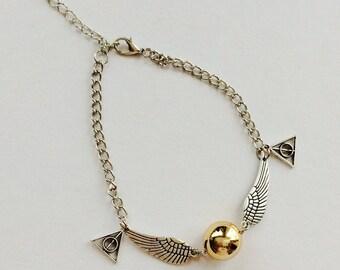 SALE Cute fandom jewellery , golden snitch bracelet , snitch jewellery  , gifts , cute bracelet , golden snitch , kawaii