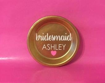 Bridesmaid Jewelry Dish Bridesmaid Gift Wedding Party Gift Bridal Party Wedding Jewelry Holder Ring Dish