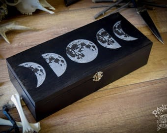 Tarot Box - Moon Circle -  For 4 Tarot decks