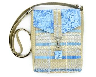 Knitting Project Tote - Small Knitting Bag - Yarn Project Bag - Sock Bag - Crocheting Bag - Across Body Bag - Crossbody Purse - Knitter Gift