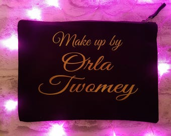 Personalised Make Up Bag BLACK
