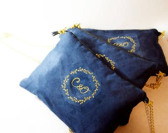Personalized wedding clutch bag