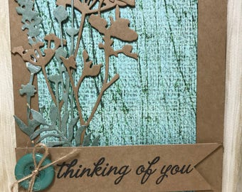 Thinking of You Card//Handmade Card