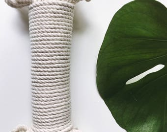 Natural cotton rope, three strand twisted cotton rope, cotton rope