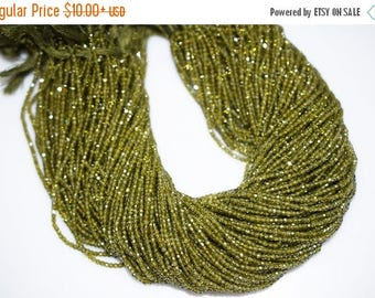 50% OFF AAA Quality Olive Cubic Zirconia Faceted Rondelle Beads 13 Inch Strand ,Olive CZ Beads,Olive Roundel Beads , 3 mm - Mc412