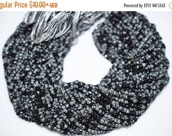 50% OFF Good Quality Natural Black Obsidian Rondelle Beads ,13 Inch Strand ,Black Obsidian Faceted Rondelle Beads , 4.50 mm - MC087