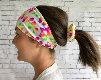 Sport for hair, white with motif flash band