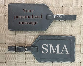 Personalized baggage tags, Bag tags, monogram luggage tags, luggage tags personalized, custom luggage tags, passports Grey*