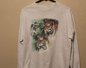 Vintage 90s Tiger shirt // 90s Tiger t-shirt // vintage tiger t-shirt // cheesy tiger shirt // Tiger t-shirt // tiger tshirt // tiger shirt