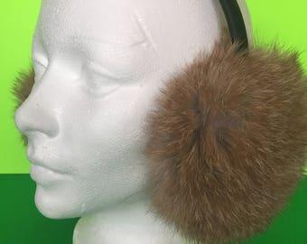 Real Natural Fur headphones   Earmuff   Warm accessories   