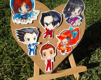 Large Ace Attorney Stickers