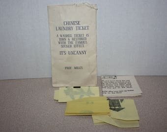 Vintage Chinese Laundry Ticket Magic Trick w/ Instructions in Envelope