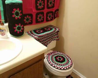 Crochet bathroom sets 10 pc