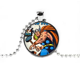 Thor Necklace Comic Thor Pendant Thor Chain Comic Superheroes Fandom Jewelry